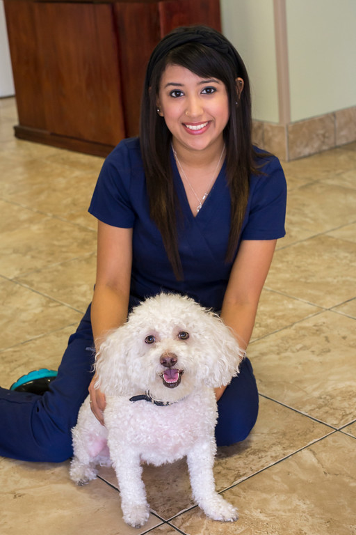 Genesis- receptionist and veterinary technician at Topaz Veterinary Clinic in Tempe, AZ